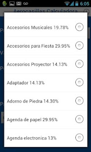 Calculadora Aerocasillas CR screenshot