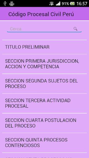 Código Procesal Civil Perú