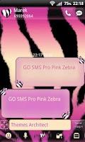 Screenshot of GO SMS Pro Pink Zebra