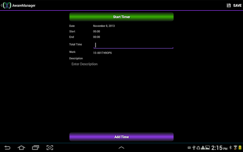 AwareManager Mobile - screenshot thumbnail