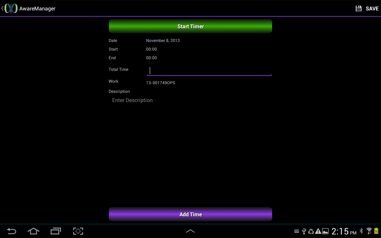 AwareManager Mobile - screenshot