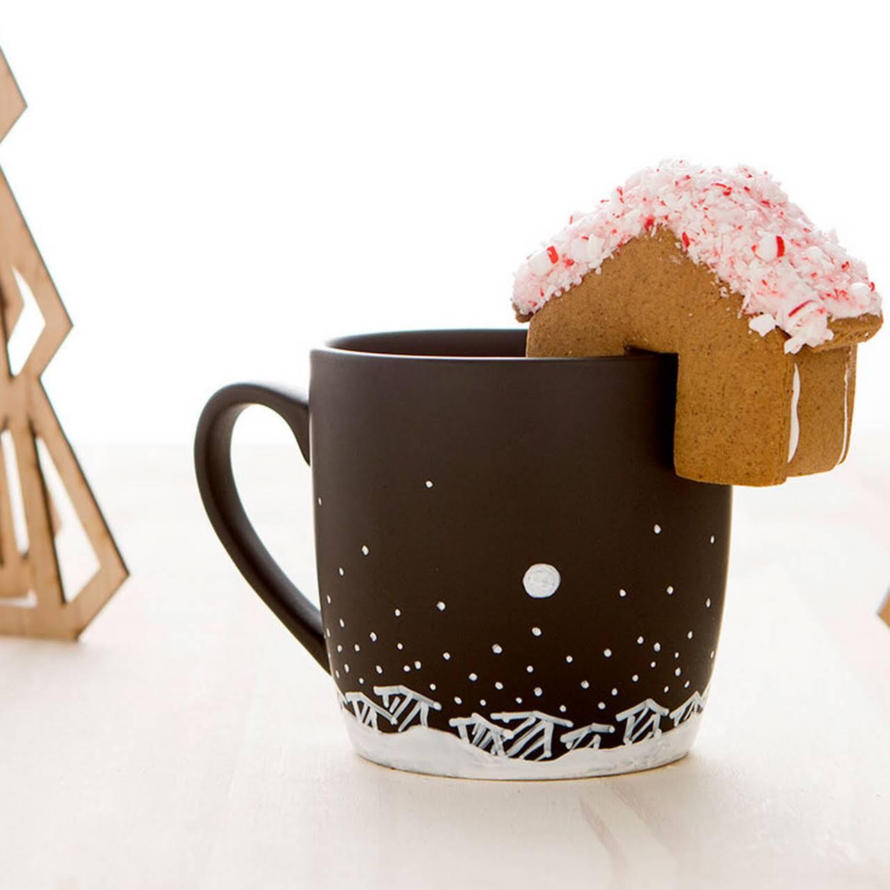 Holiday Mug and Mini Gingerbread House Kit!
