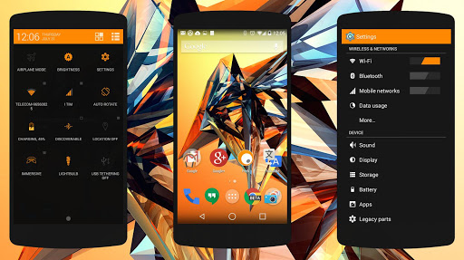 Objects #Orange PA/CM11 Theme v1.5.0