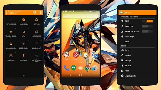 Objects #Orange PA/CM11 Theme v1.0.0