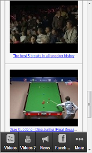 Snooker Sport Fan App