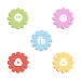 VM14 Mixed Pastel Flower Icons Icon