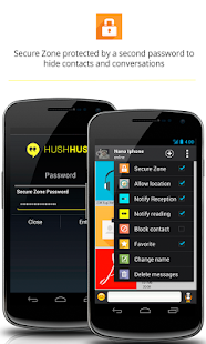 HushHushApp secure messenger. - screenshot thumbnail