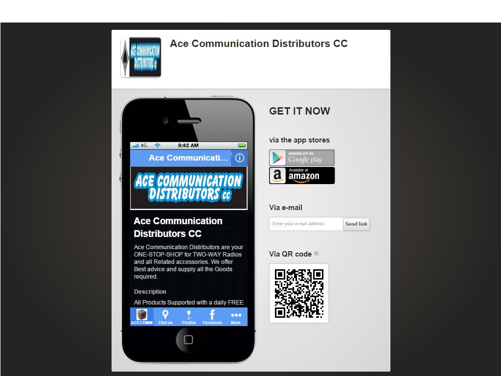 Ace Communications- screenshot