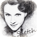 Photo Sketch Cartoon Portrait icon