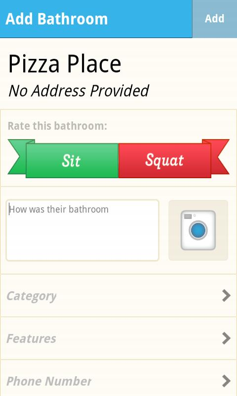 SitOrSquat: Restroom Finder - screenshot