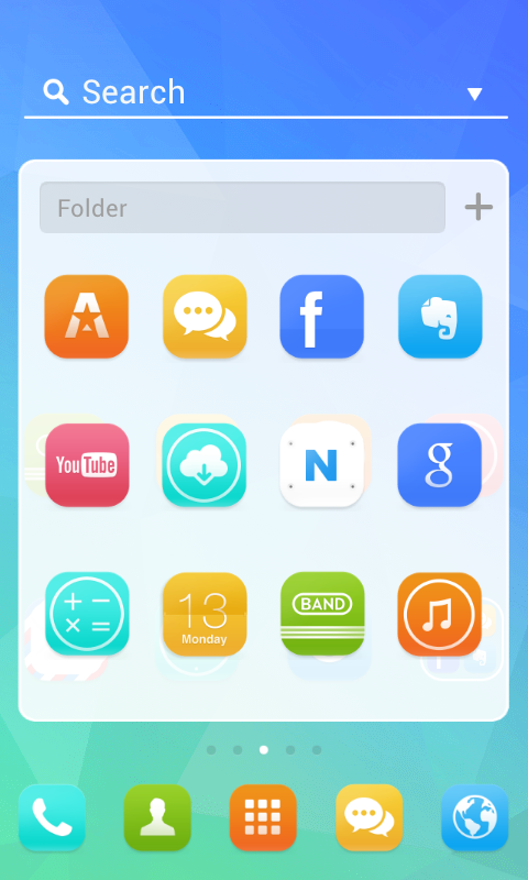 Simple Unique dodol theme - screenshot