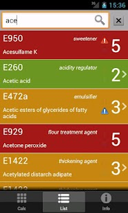 E Numbers Calc: Food Additives - screenshot thumbnail
