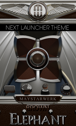 Next Launcher Theme Brown Elep