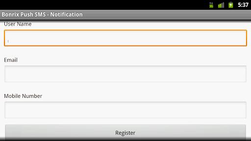 Bonrix Push SMS Alert - Tablet