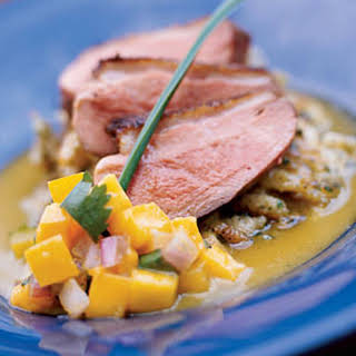 Grilled Duck Breast with Mango Chutney.