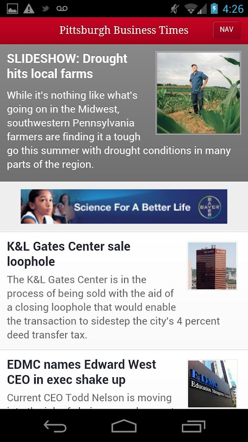 The Pittsburgh Business Times- screenshot