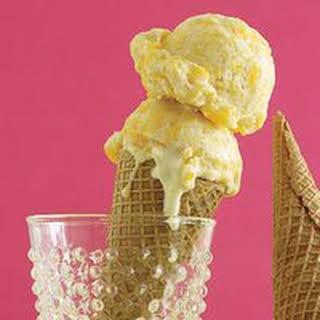 Cinnamon Peach Ice Cream.