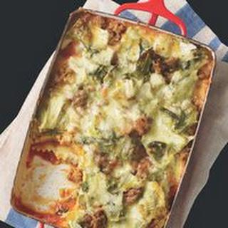 Ravioli & Escarole Lasagna