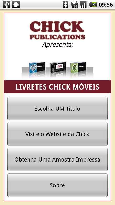 Livretes Chick: captura de tela