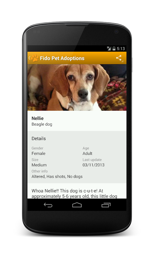 Fido Pet Adoptions- screenshot