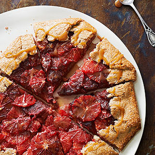 Rustic Blood Orange Tart with Salted Pecan Crust
