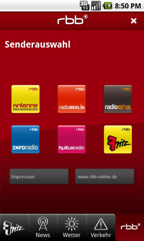 Radio Fritz - screenshot