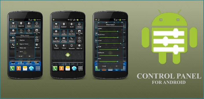 Control panel for Android