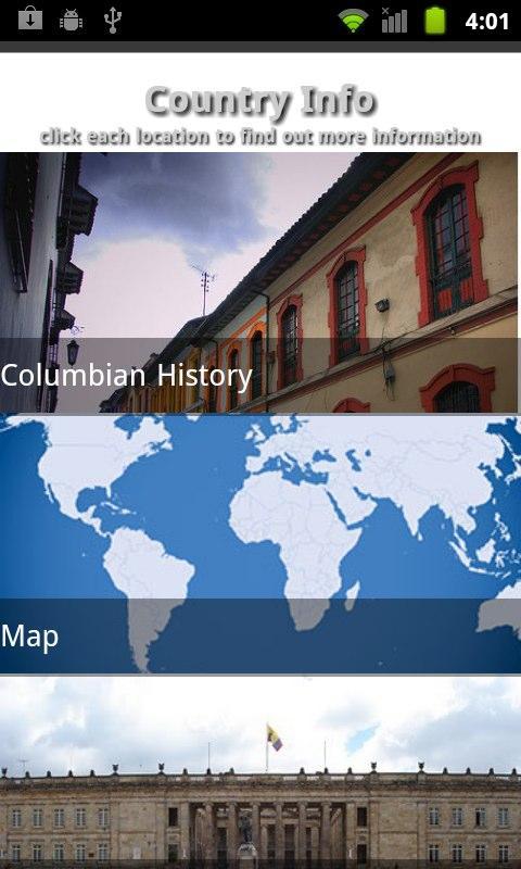 Columbia Travel Guide- screenshot