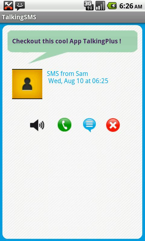 Talking SMS free - screenshot