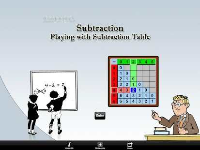 Playing With Subtraction Table - Android Apps On Google Play