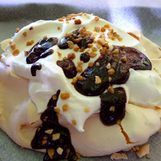 Greek Yogurt and Chocolate Pavlova.