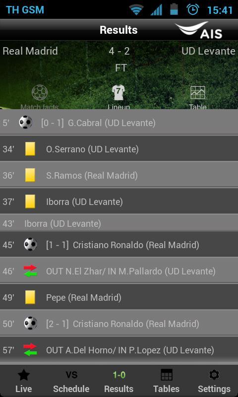 AIS Soccer Live- screenshot