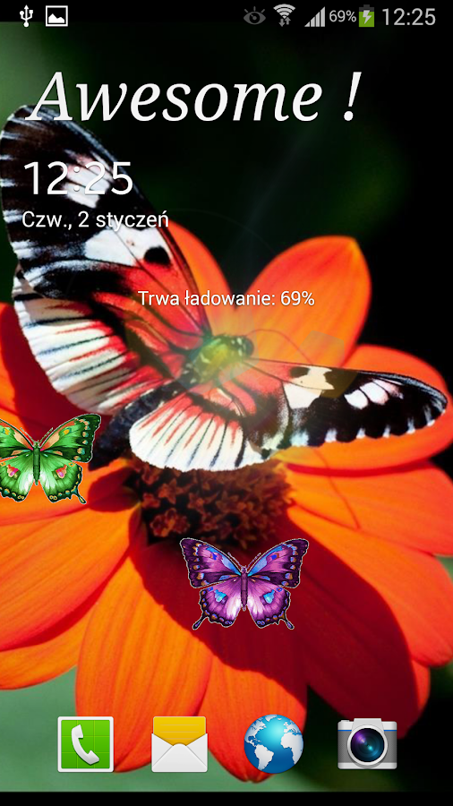 Butterflies Live Wallpaper - screenshot