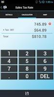 Screenshot of WA Sales Tax Rate Lookup