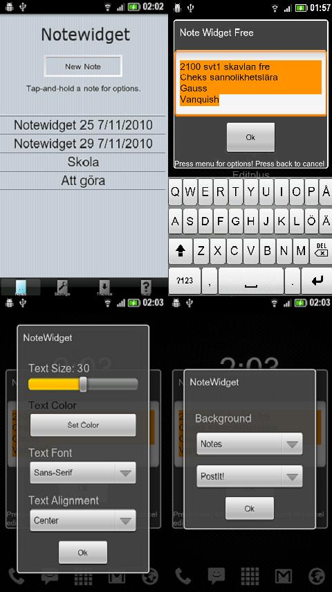 Note Widget Free - screenshot