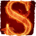 The fiery letter S live paper icon