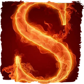 The fiery letter S live paper