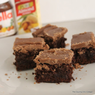 Chocolate Hazelnut Iced Brownies Recipe