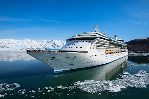 A close-up look at Royal Caribbean's Radiance of the Seas in Alaska.