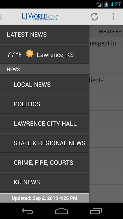 Lawrence Journal-World - screenshot