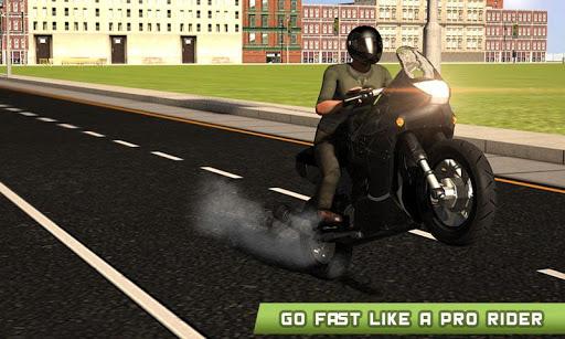 极端的摩托车赛车辛