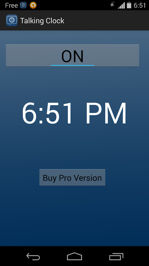 Talking Clock PRO- screenshot