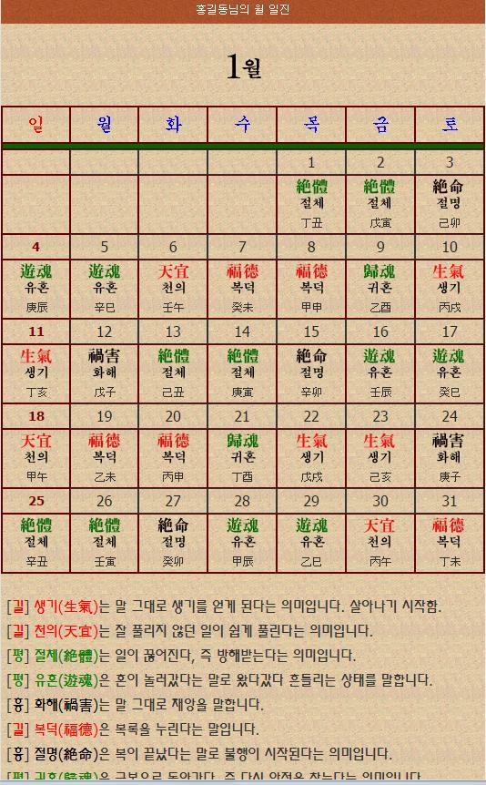 2015 사주팔자,궁합,토정비결,운세,꿈해몽,타로,이름 - screenshot