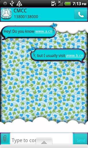 【免費個人化App】GO SMS THEME/BlueBird4U2-APP點子