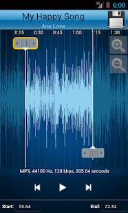 MP3 Cutter and Ringtone Maker♫ Screenshot