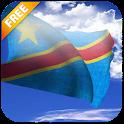 3D DR Congo Flag icon