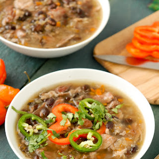 Slow Cooker Black Bean & Ham Soup with Cumin.