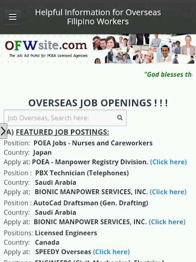 ofwsite - search jobs abroad