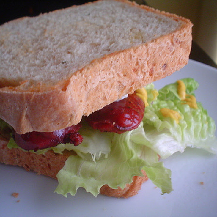 Potato Bread Sausage Sandwich Recipe