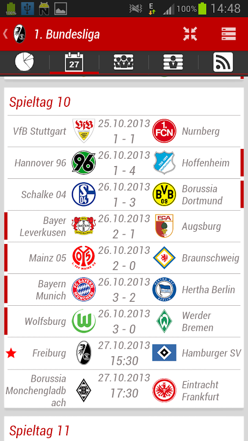 SC Freiburg App - screenshot